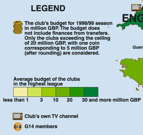 The first world atlas of football the richest football clubs in the richest football clubs in the world legend of map gumiabroncs Images