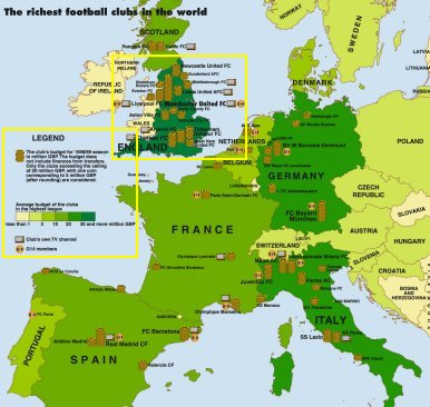 First world atlas of football samples a preview of the map the richest football clubs of the world the two yellow framed segments can be viewed in original size or here the full size map can gumiabroncs Images